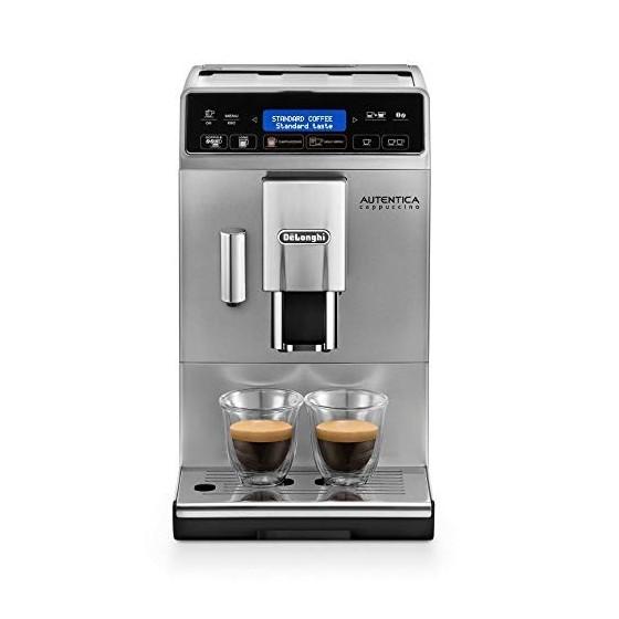 DeLonghi Autentica Machine expresso avec broyeur, technologie exclusive boissons lactées ETAM29.660.SB, Argent et Noir