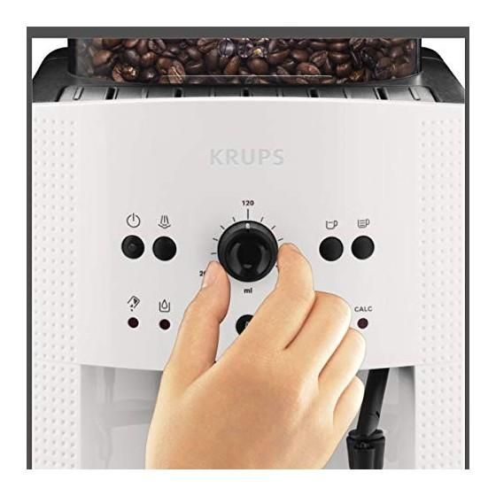 Krup Essential blanche Machine à café à grain, Machine à café