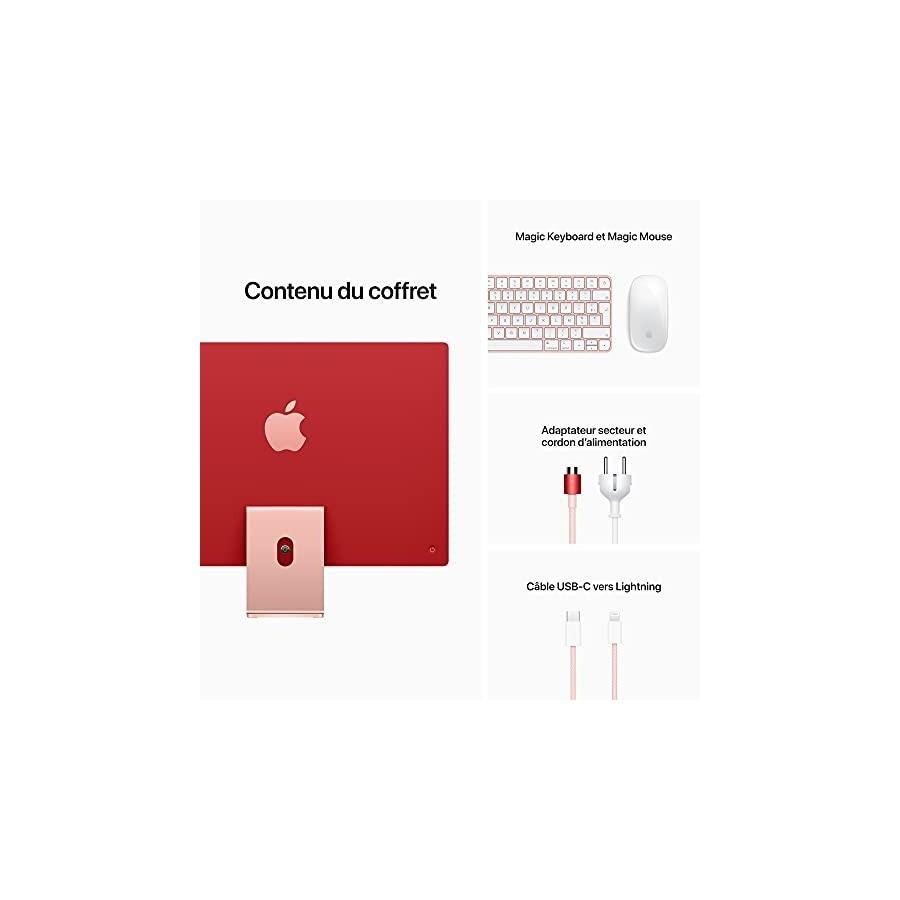 2021 Apple iMac 24 Pouces, Puce Apple M1 avec CPU 8 cœurs et GPU