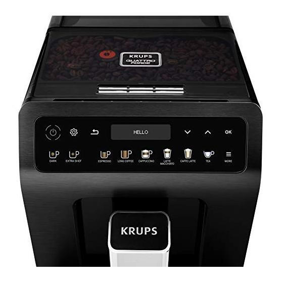 Krups Evidence Plus Machine à café automatique avec broyeur à grains Machine à café Noir métallisé