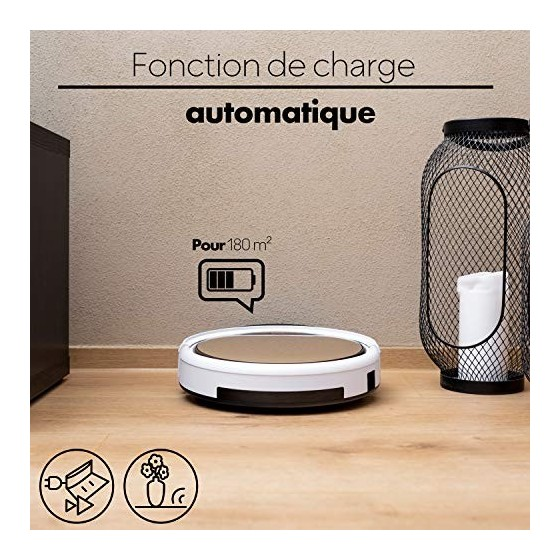 ZACO - Robot Aspirateur V5sPro avec Télécommande - Robots Aspirateurs Laveurs 2 en 1 Intelligents sans Fil pour Sol dur et Ta