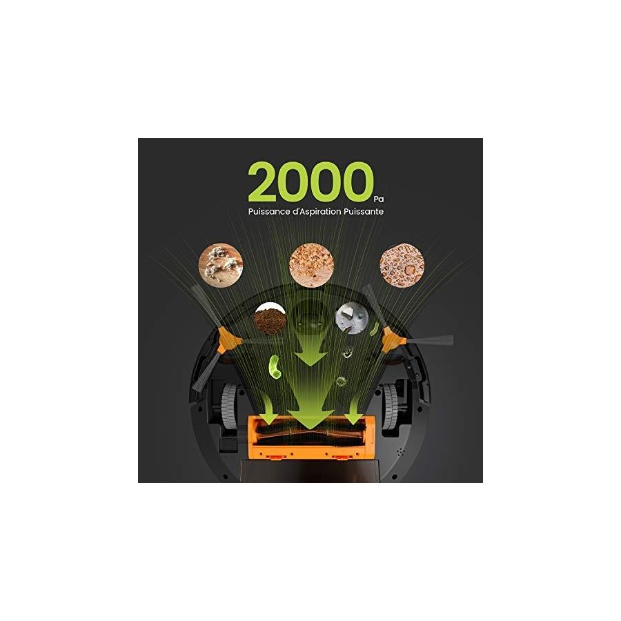 KÝVÖL Aspirateur Robot avec Aspiration Puissante 2000 Pa