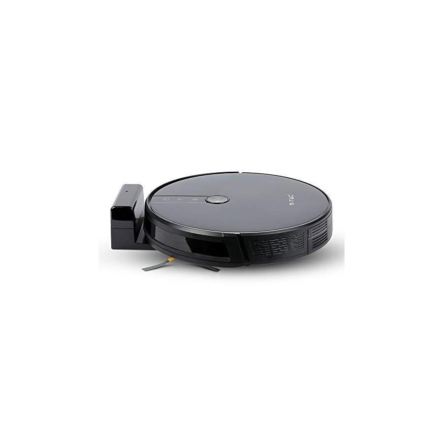Aspirateur Robot Laveur avec Eau et Base de Recharge Noir