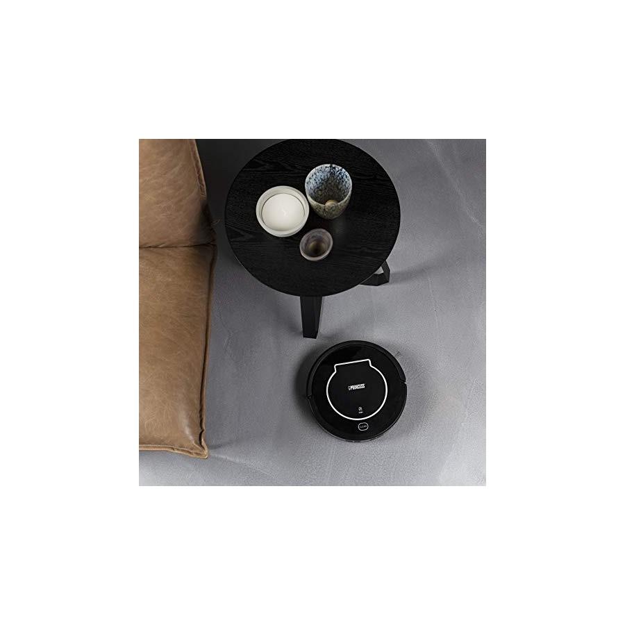 Princess 339000 Aspirateur Robot, 15 W, 0.5 liters, Noir