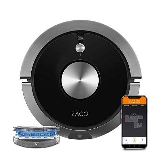 ZACO - robot aspirateur laveur A9sPro, WiFi, connecté Alexa