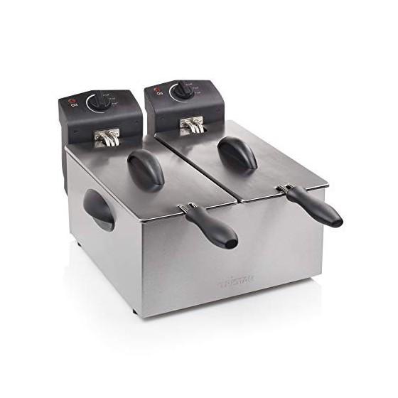 Friteuse Tristar FR-6937 – Contenance 2 x 3 l – Les deux cuves peuvent être utilisées séparément