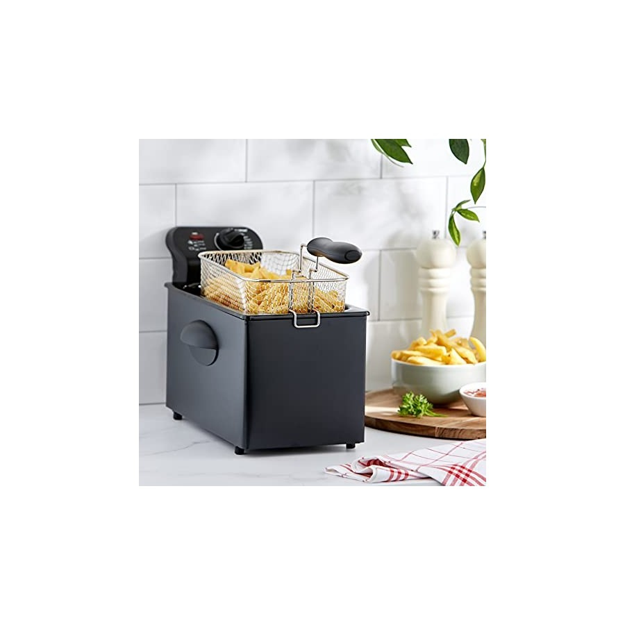 Bestron Friteuse Zone froide, Pour 1 kg de frites, 3,5 litres