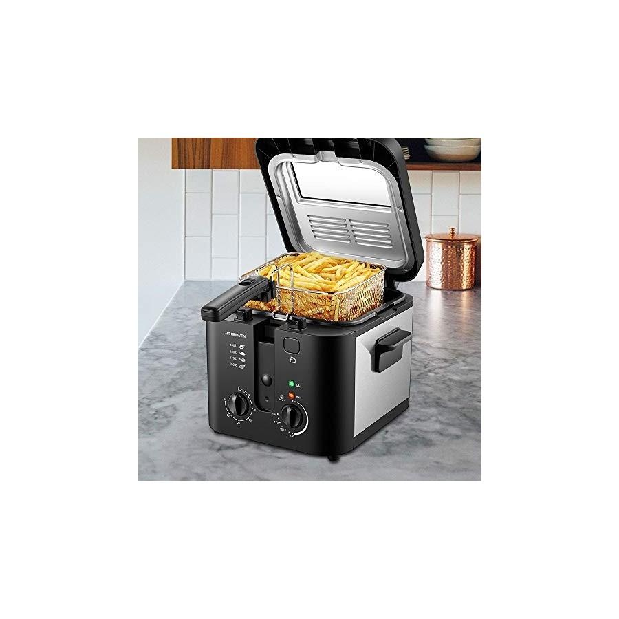 Arthur Martin AMP132 1600W 2,5L pour 1Kg de Frites Capot et cuve