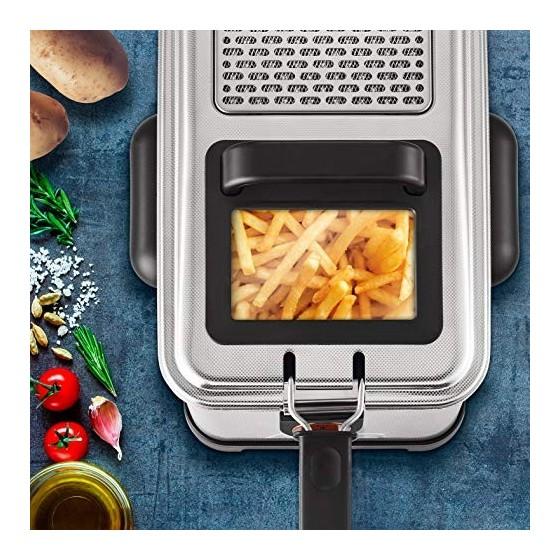 Seb Friteuse Semi-Professionnelle Filtra Pro 4L, Frites, Poulet, Capacité 1,3kg, Cuve Amovible, Thermostat Réglable, 2300 W,