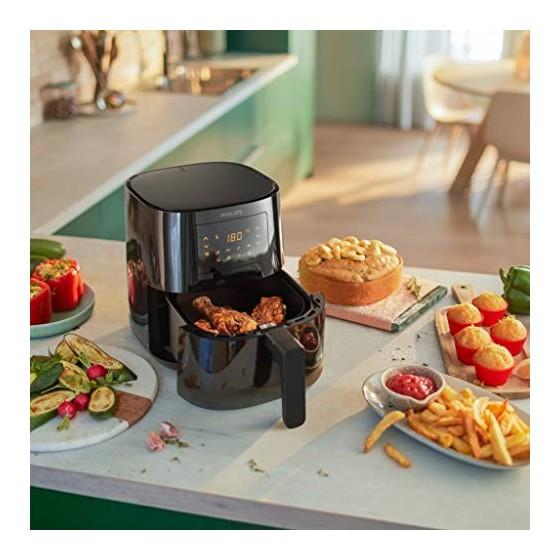 Philips HD9252/90 Airfryer Compact Noir - Bien plus quune friteuse : faites cuire, frire, rôtir et griller tous vos aliments