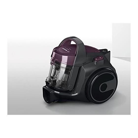 Bosch Série 2 Aspirateur sans sac BGC05AAA1 – Aspirateur au format ultra compact et poids léger, avec filtre hygiénique lavab