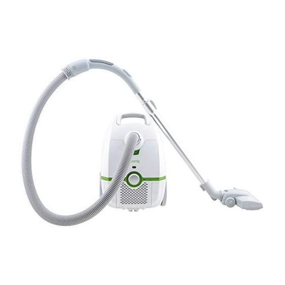 H.Koenig Aspirateur avec sac traineau blanc 3L AXO700, classe énergétique AAA, filtre HEPA H12, Silencieux, Puissant, Efficac