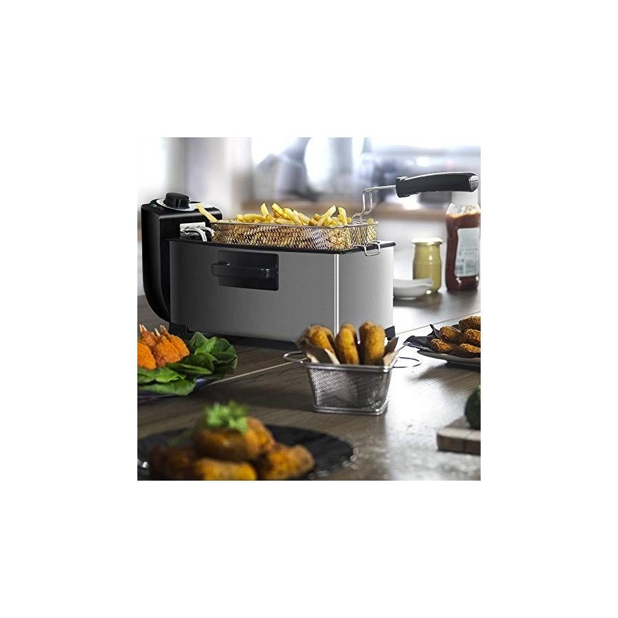 Cecotec Friteuse Électrique CleanFry 3 L. 3 L, Jusqu'à 190 ºC