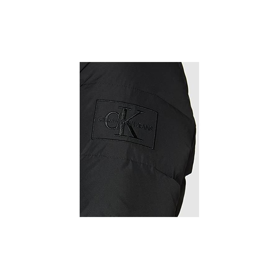 Calvin Klein Jeans Short Down Fitted Puffer Jacket, CK Black, XL