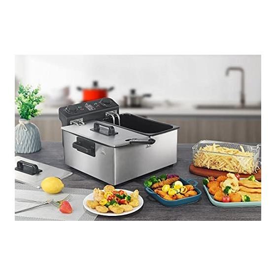 Senya Friteuse électrique cuve Amovible INOX 6L Family Fryer