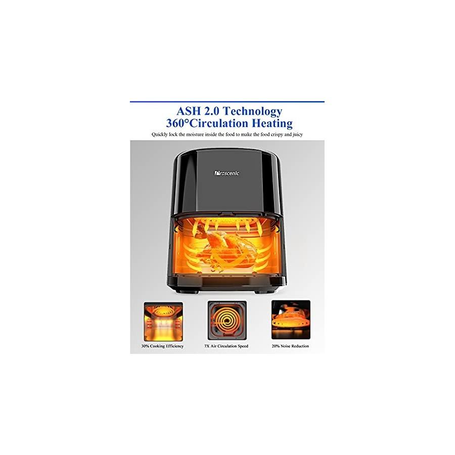 Proscenic T22 Friteuse sans huile,Friteuse à air 5,0L en acier