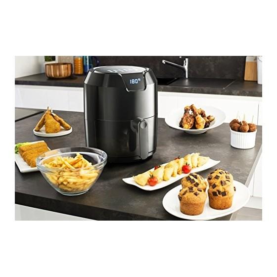 Moulinex Easy Fry Digital Friteuse Sans Huile Capacité XL 6 Personnes 4,2 L Ecran Tactile 8 Menus Préprogrammés Arrêt automat