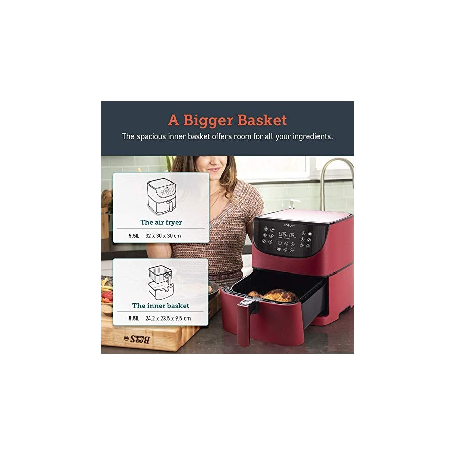 COSORI Friteuse sans Huile à Air Chaude 5,5L, Air Fryer avec 11