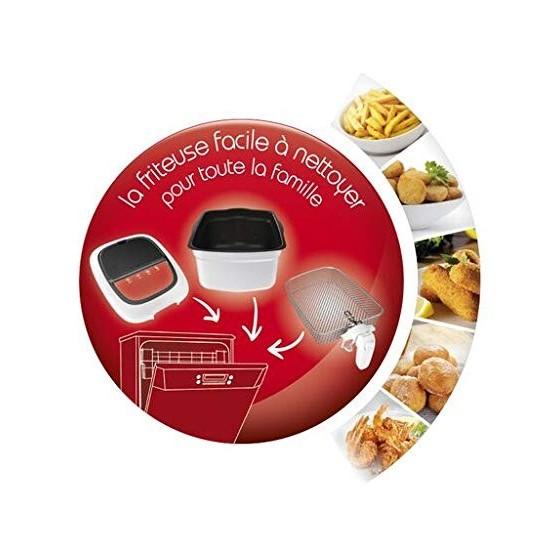 Moulinex Super Uno Friteuse 2,2L Capacité 1,5 kg frites 1800 W Thermostat ajustable Ouverture automatique Nettoyage Facile Cu