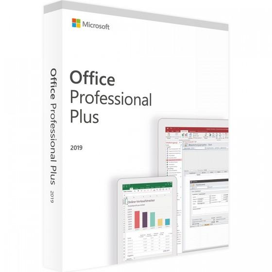 Microsoft Office 2019 Professionnel Plus 32/64 Bit - (clé de