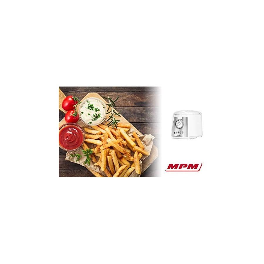 MPM MFR-07 Friteuse électrique compacte 1,5 l Cuve amovible